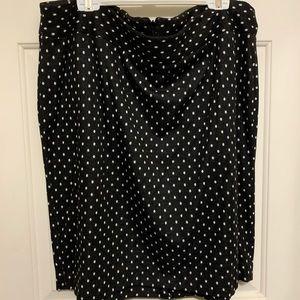 Brand new lane Bryant polka dot pencil skirt